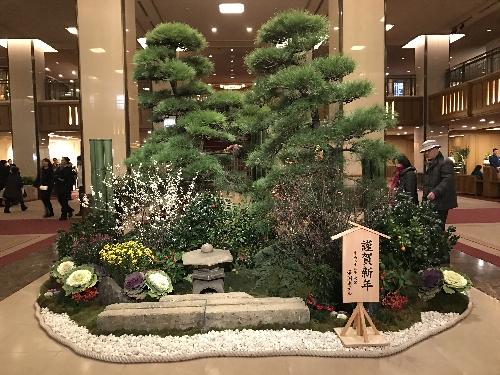 帝国ホテルの正月の飾りつけ