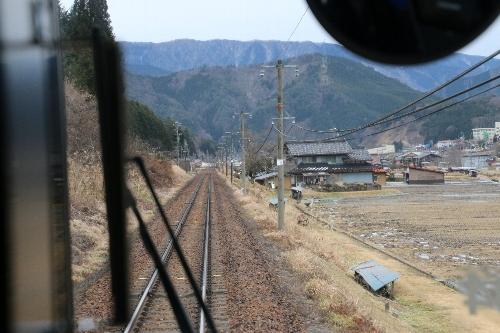 雪のない「雪見ローカル列車」