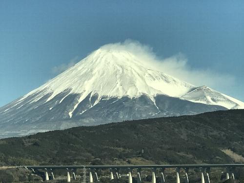 新幹線車中から見た富士山