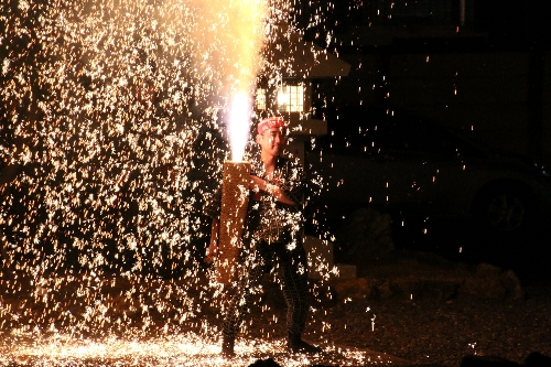 吉田神社の手筒花火