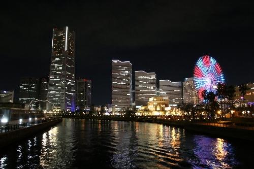 横浜コスモワールドの観覧車、クイーンズスクウェア、ランドマークタワー