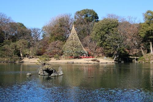 六義園の池