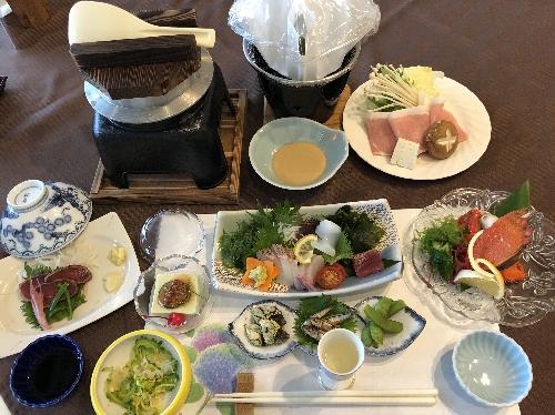 屋久島グリーンホテルの夕食