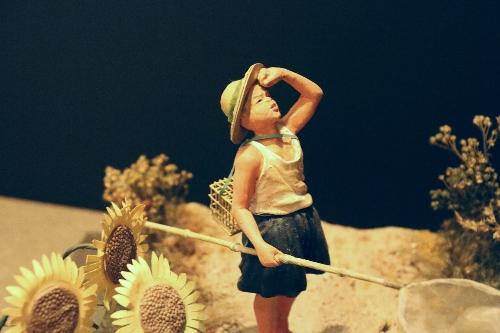浜松ジオラマファクトリー セミ採りの男の子