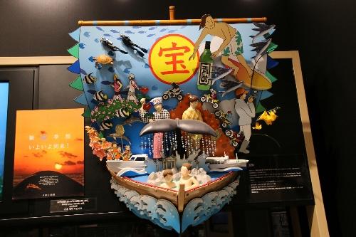 中野区のコーナーでは高円寺の阿波踊りや仏像