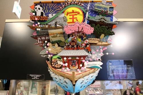 台東区のコーナーでは浅草の雷門両国の相撲、上野公園のパンダなど