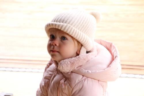 高山陣屋で赤ちゃん