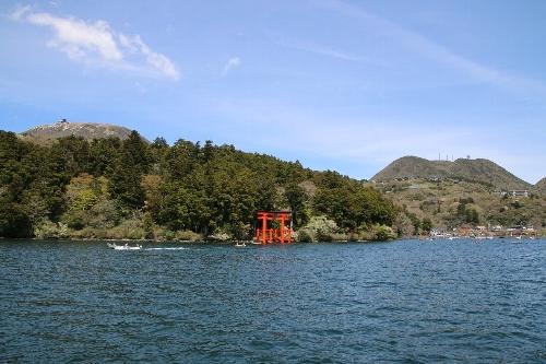 箱根神社の赤い鳥居