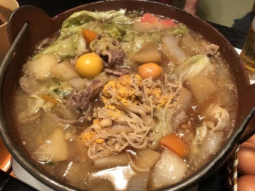 湯島梅園の鴨鍋の食べごろ