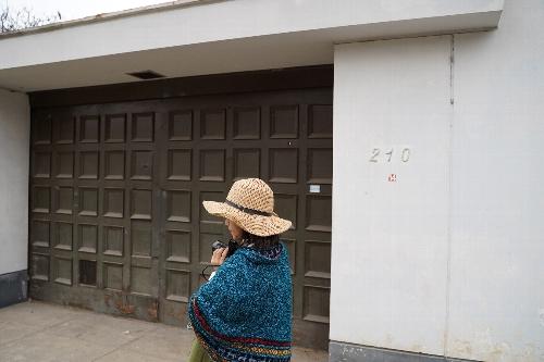 旧日本大使公邸跡の門の扉