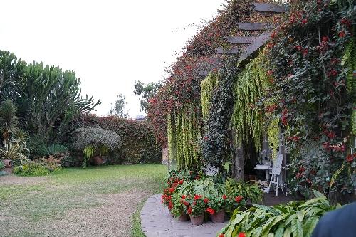ラルコ博物館の庭