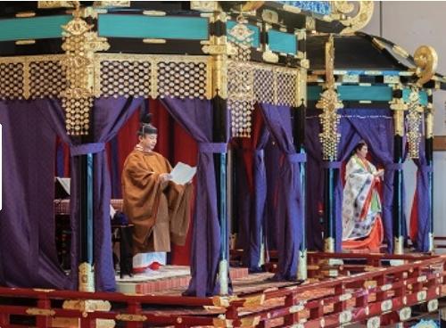 おことばを読まれる天皇陛下。宮内庁のHPより