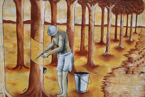 ゴム農園労働者