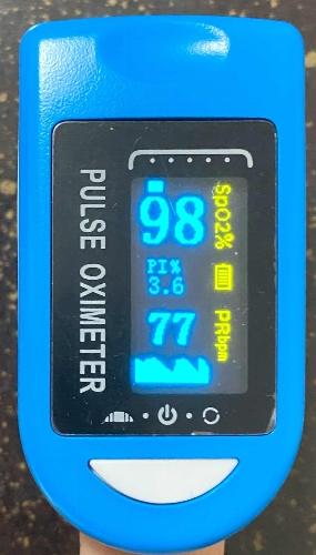 パルスオキシメーターの測定値