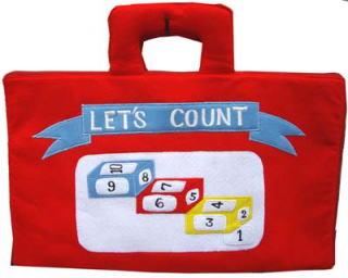布おもちゃ数えてみようバッグ