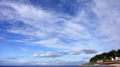 北海道の空と海