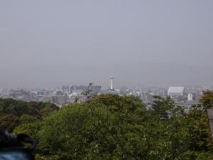 清水からの京都タワー