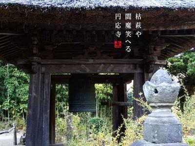 円応寺鐘楼と枯萩