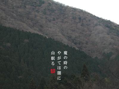 初冬の箱根の山