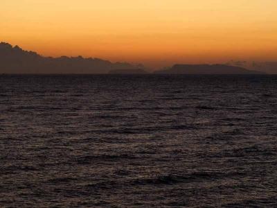 石廊崎から伊豆諸島を望む