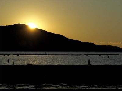沼津港の落日