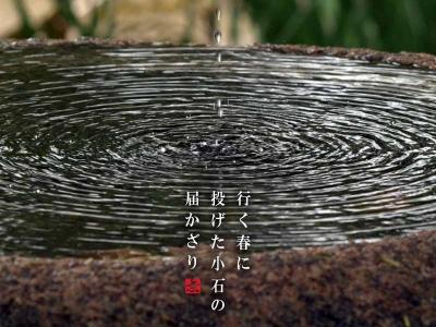 手水の波紋