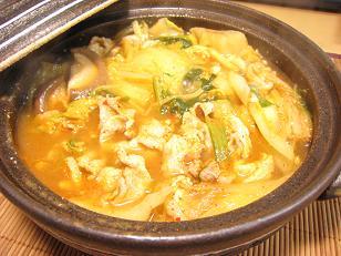 残り物 de キムチ鍋