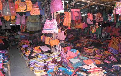 タイ北部チャンマイのモン族マーケット