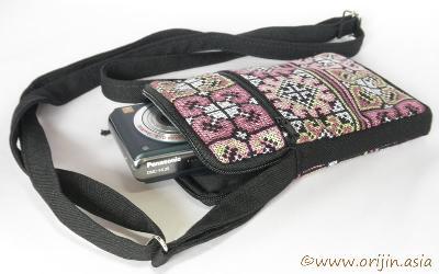 ミェン刺繍のマチ付きポシェット_織り人