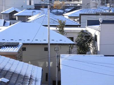 仙台の初雪