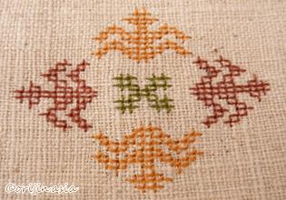 タイ北部ミェン族の刺繍
