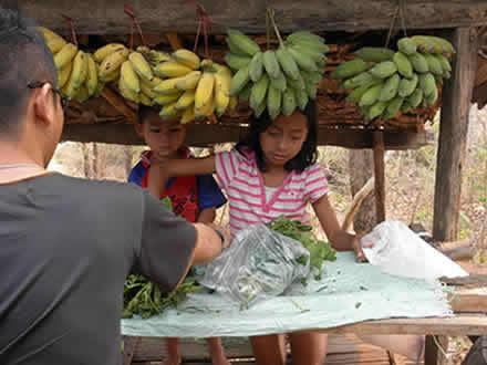 道端のバナナ売り