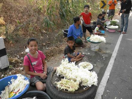 タイの道端のマーケット