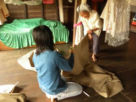 ルー族の布