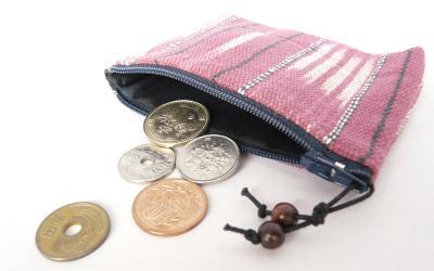 カレン手織り布のコインケース