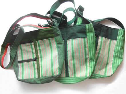 カレン手織り布のショルダーバッグ