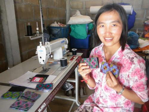 織り人のカードケース作り