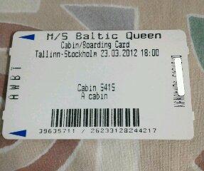 タリン・ストックホルム乗船チケット