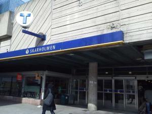 スウェーデンSkarholmen駅