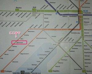 ストックホルム地下鉄地図