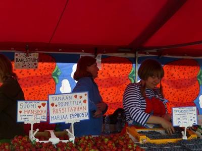 ヘルシンキ マーケット 可愛いイチゴ