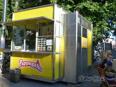 ヘルシンキ アイスクリーム屋台