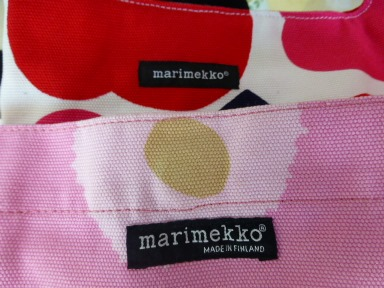 marimekkoショルダーバック ロゴ