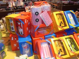 日本郷土玩具館の糸電話