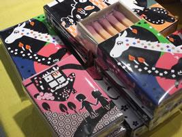 日本郷土玩具館のアロマキャンドル