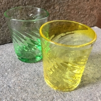 倉敷ガラス春色コップ日本郷土玩具館