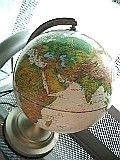 ライト付地球儀