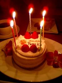 ケーキまで用意