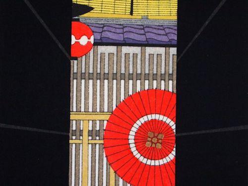 【木版画】加藤晃秀「花傘ろーじ」