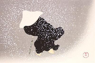 神坂雪佳 「巴の雪」